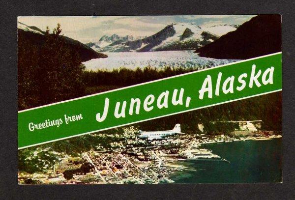 united states location alaska ak greetings from juneau alaska postcard
